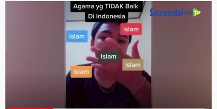 [Bodoh], ingin video tiktok-nya viral, pemuda ini menghina Islam pada konten videonya