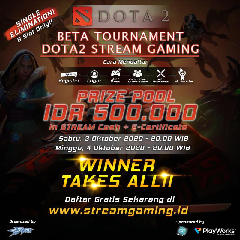 Beta Tournament Dota 2 Stream Gaming Kaskus
