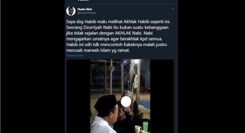 Viral Aksi Diduga Tokoh Agama Persekusi Warga, Habib Husin: Saya Malu