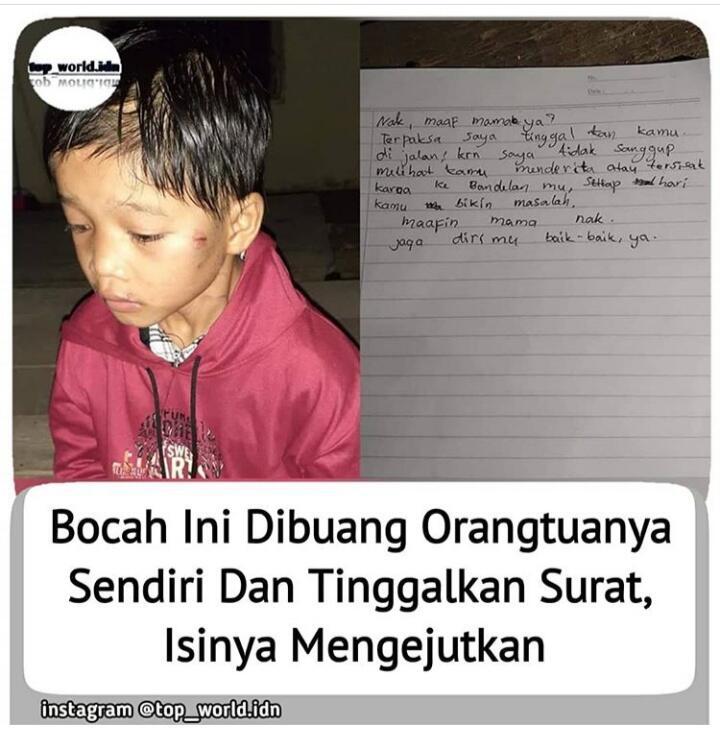 Bocah Delapan Tahun Yang Dibuang Dan Sempat Viral Di MedSos, Cek Ada Suratnya Loh!