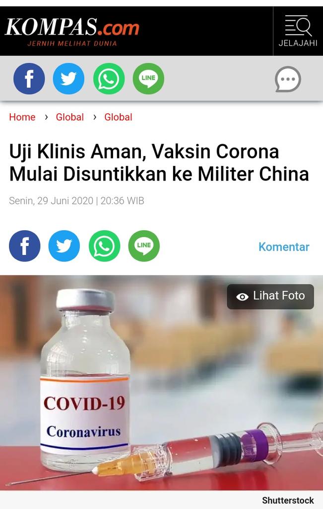 Rincian Orang yang Dapat Prioritas Vaksin Corona di Awal 2021