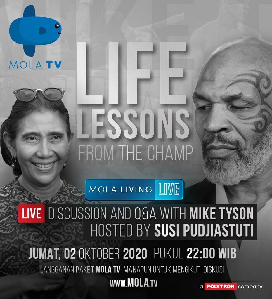 Susi Pudjiastuti dan Mike Tyson Berbagi Inspirasi Lewat Tayangan Mola TV