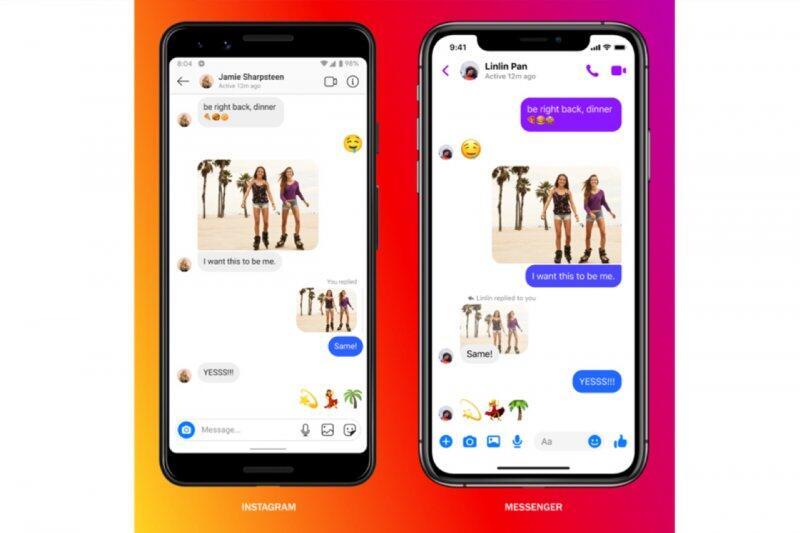 Perpesanan Lintas Platform Instagram dan Messenger di Facebook