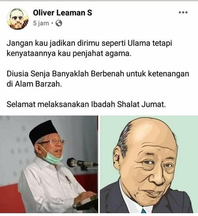 Pengunggah Kolase Ma'ruf-'Kakek Sugiono' Ternyata Ketua MUI di Tanjungbalai