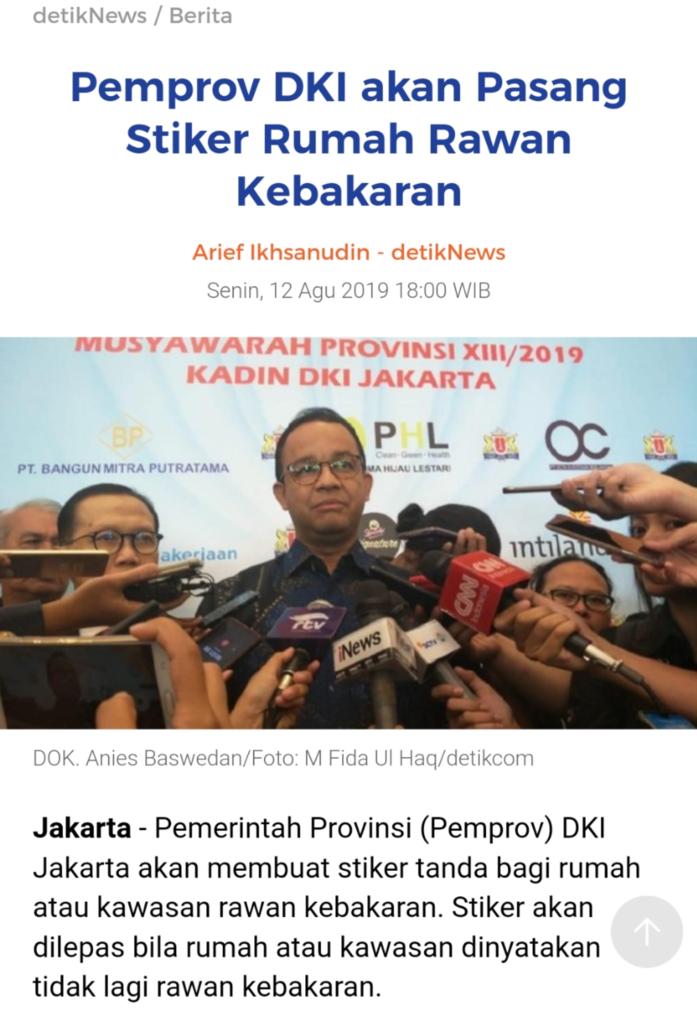Rumah Pasien Covid-19 akan Ditempel Sticker, Wagub DKI Jakarta: Agar Warga Waspada