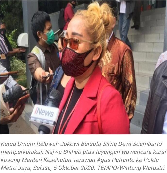 Wawancara Kursi Kosong, Najwa Shihab Dilaporkan ke Polisi oleh Relawan Jokowi Bersatu