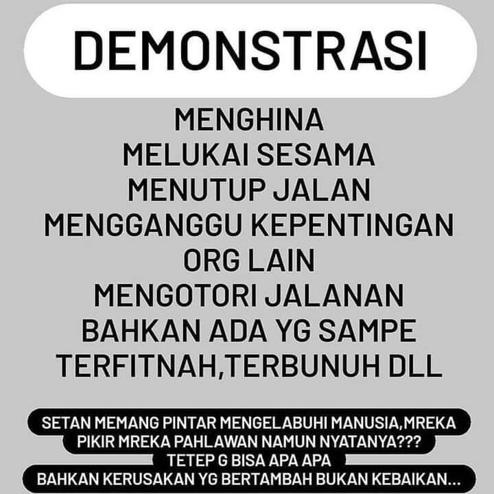 4 Alasan Aksi Demo Tidak Seharusnya Dilakukan Mahasiswa Muslim..Nomor 4 Emejiing