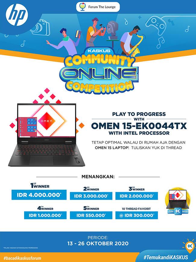 Yuk Ikutan COC bareng OMEN 15-ek0044TX with Intel Processor, Hadiahnya Gokil Gan..