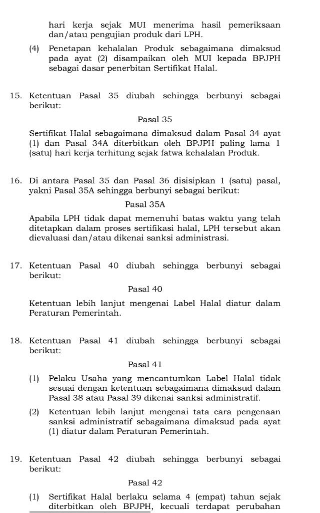 UU Ciptaker Merubah Aturan Srtifikasi Halal, MUI: ini Bahaya Bisa Melanggar Syariat