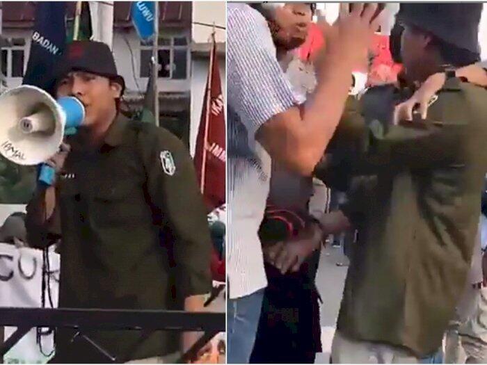 Ejek Polisi, Mahasiswa HMI Ditangkap Polisi Baju Preman, Begini Nasibnya