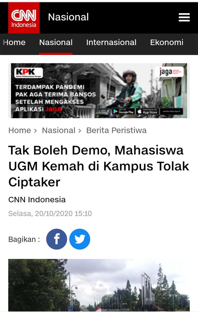 BEM SI Beri Waktu 8 Hari ke Jokowi Batalkan UU Ciptaker, Kalau Tidak Ini Ancamannya