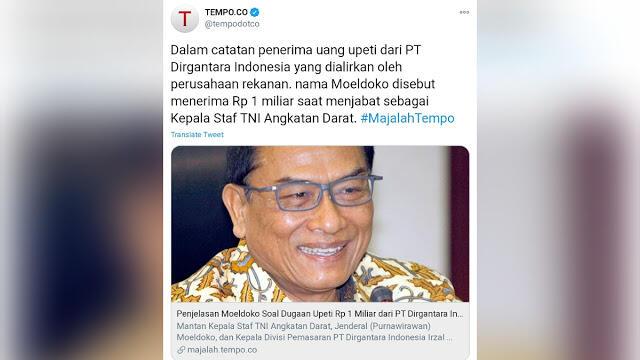 PT Dirgantara Diduga Berikan Upeti untuk Pejabat Kemenhan sampai TNI
