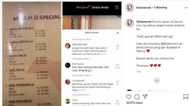 Viral! Wanita Pelayan Restoran Di ledek 'HARGA STEAK Rp.1,1juta', Netizen Membela !
