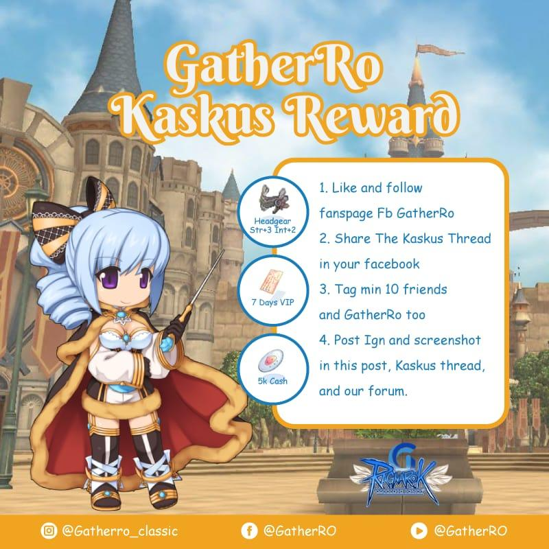 GATHER RO ONLINE PRIVATE SERVER JOIN WITH US NOW!!