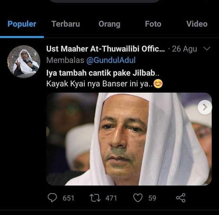 Ustaz Maaher Hina Habib Luthfi 'Cantik Pakai Jilbab', Publik Murka