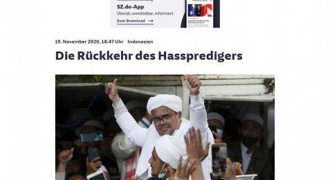 Media Jerman Beritakan Kepulangan Rizieq: Kembalinya Pengkhotbah Kebencian