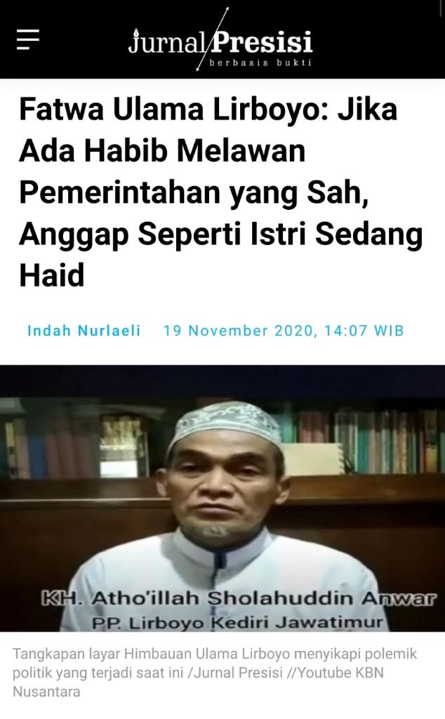 FPI Jelaskan soal Gelar Imam Besar Umat Islam Rizieq Shihab