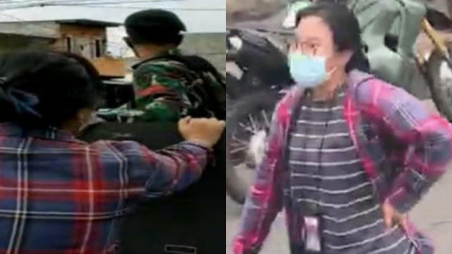 Wanita Berbaju Kotak-kotak di Atas Panser TNI Disebut Editor Media dan Ahoker Sejati