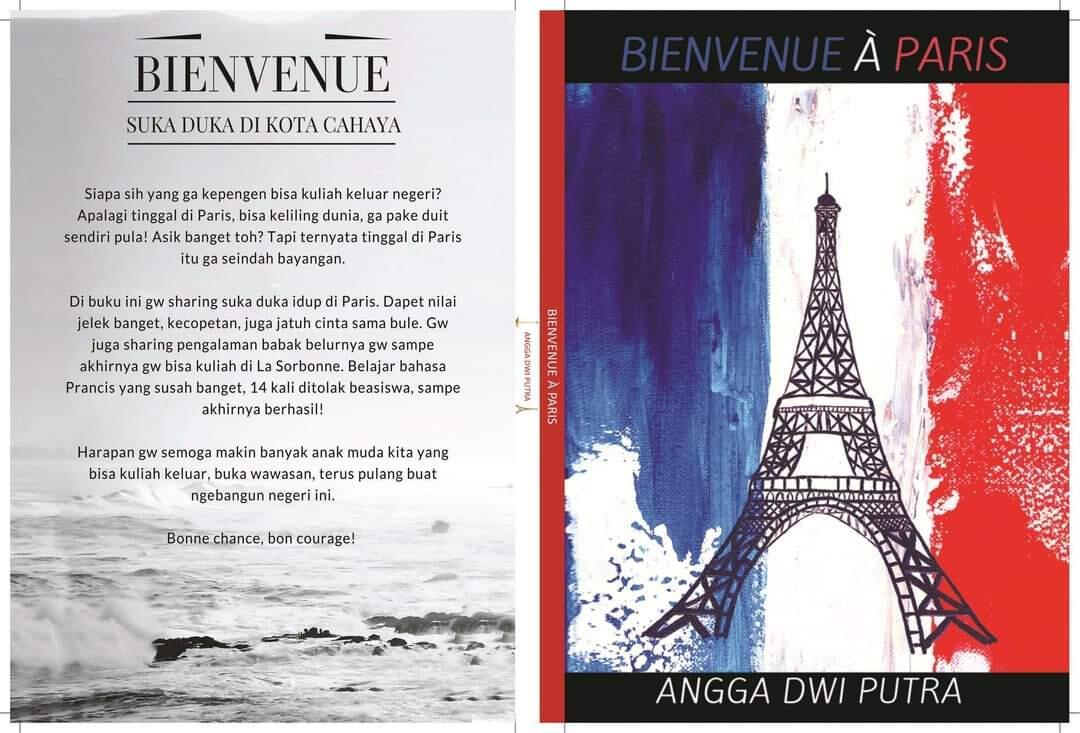 Review Buku Kisah Perjuangan Mencari Beasiswa, BIENVENUE A PARIS