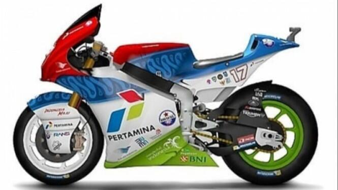 Mandalika Racing Team Posting Desain Motor Balap di Sosmed, Indonesia Banget Gan!