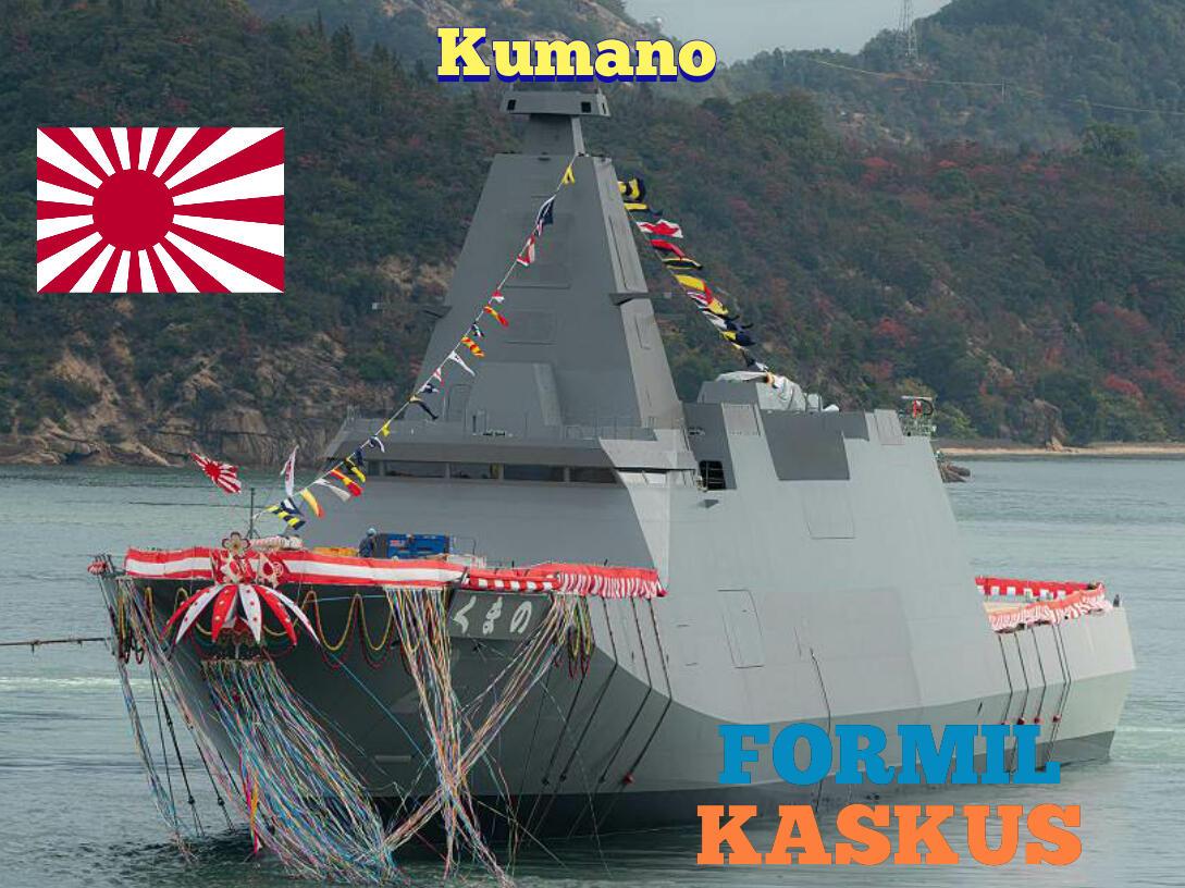 Jepang Resmi Perkenalkan Kumano, Kapal Fregat Dengan Kemampuan Siluman