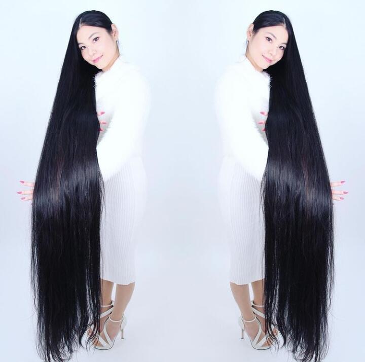 WAO, Wanita Asal Jepang Ini Tidak Pernah Potong Rambut Selama 15 Tahun, Gini Jadinya