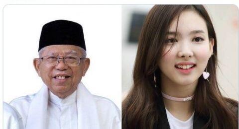 Sama-sama Punya Gigi Kelinci, Ma'ruf Amin Disebut Mirip Bintang Kpop Naeyon