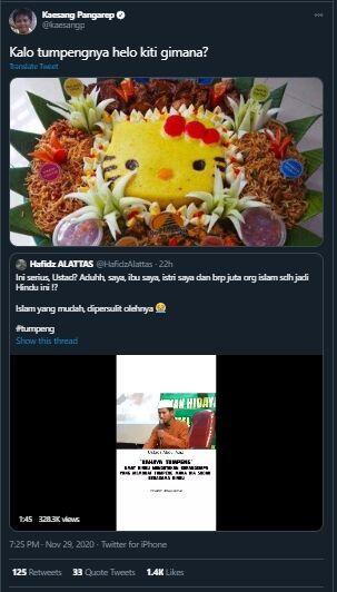 Ceramah 'Tumpeng Ajaran Hindu' Viral, Tanggapan Anak Jokowi Malah Begini