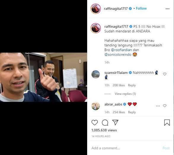 Raffi Ahmad Sudah Punya PS 5, Asli Dari Jepang Sultan Mah Bebas!