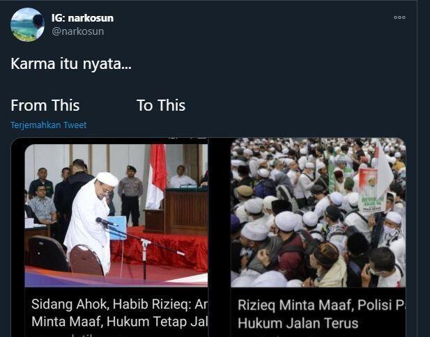 Publik Ungkit Pernyataan Rizieq ke Ahok: Minta Maaf, Hukum Jalan Terus!