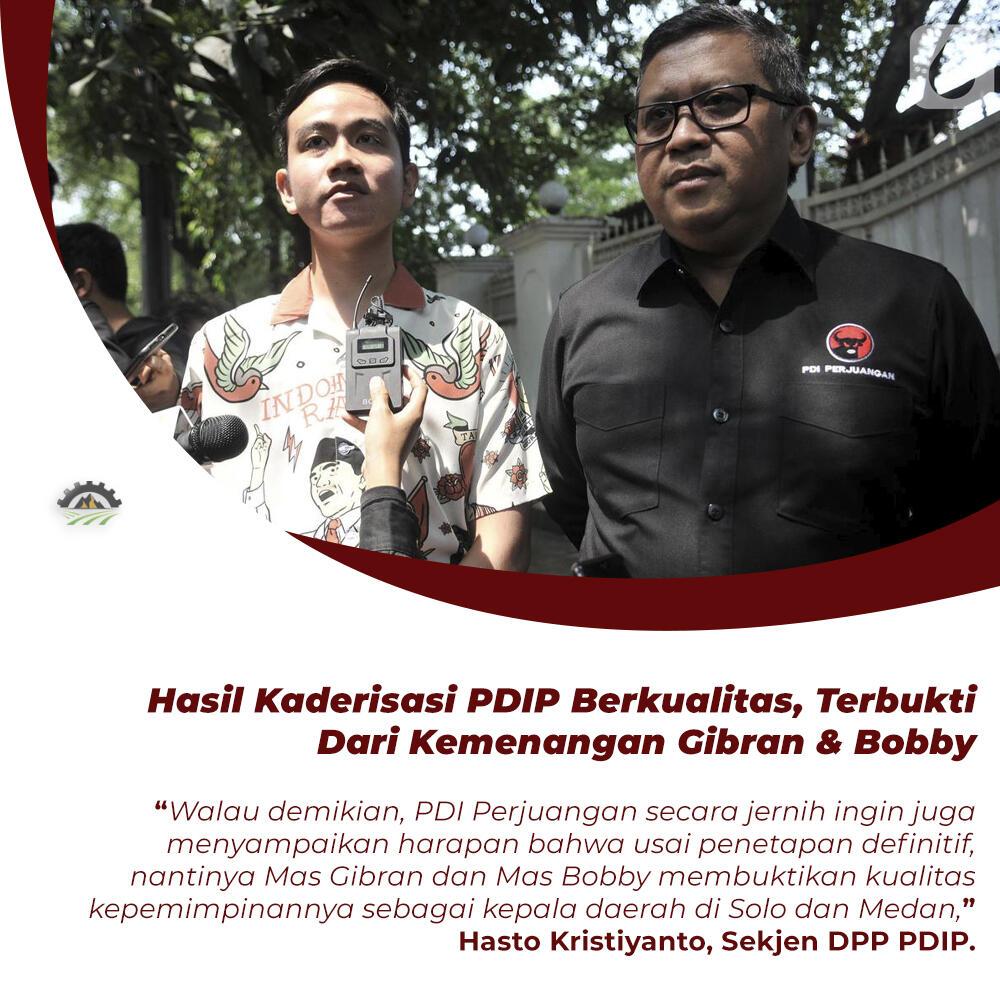 Anak-Mantu Jokowi Menang Pilkada 2020, Hasto: Hasil Kaderisasi PDIP Berkualitas!