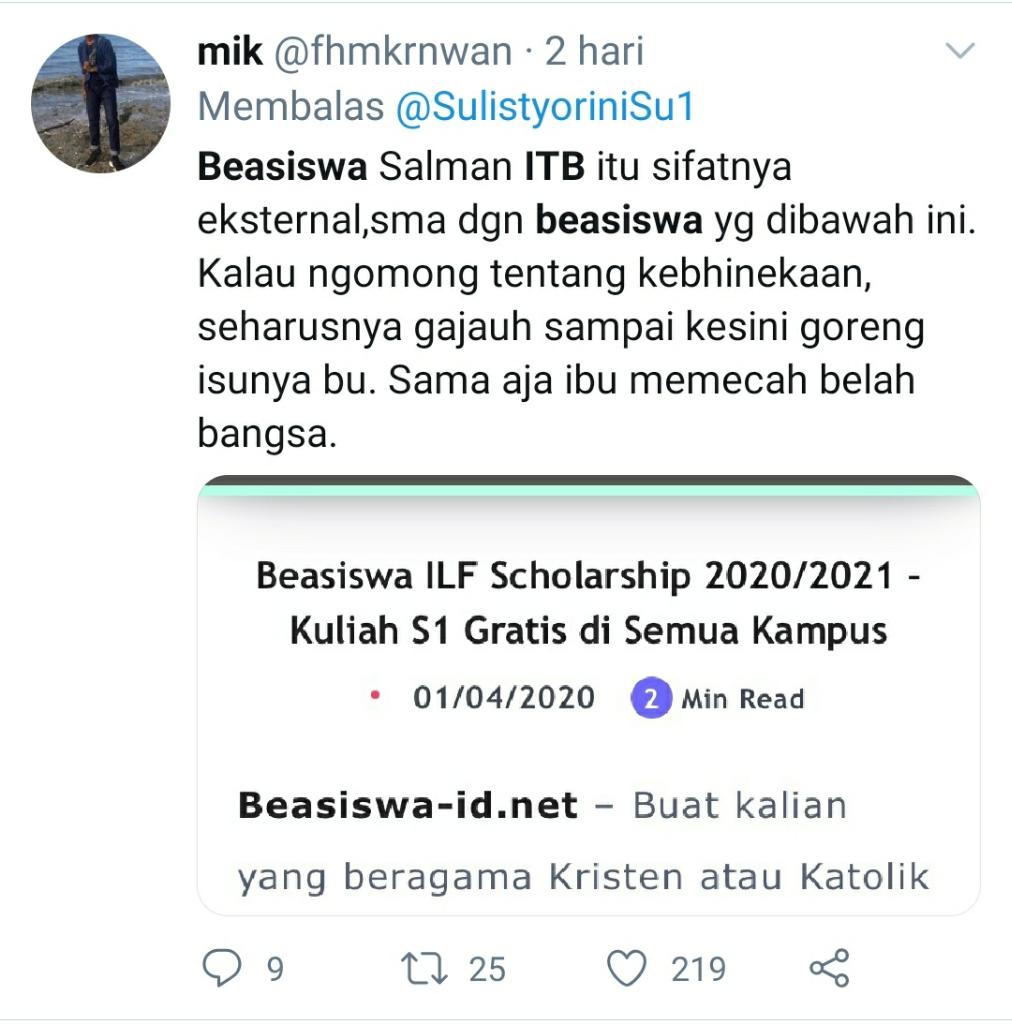 Beasiswa Kuliah di ITB Harus Beragama Islam? Diskriminatif? Cek Fakta Dulu!