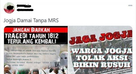 Aksi Jogja Bergerak Berlangsung, Tema Jogja Tanpa MRS Trending di Twitter