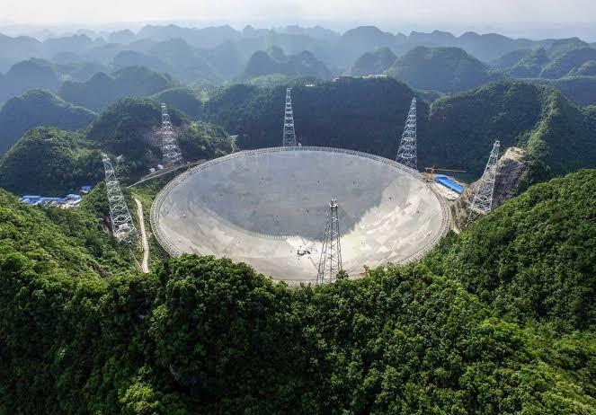 Wao, Teleskop FAST Cina Luasnya 30 Kali Lapangan Sepakbola Sudah Resmi Dibuka
