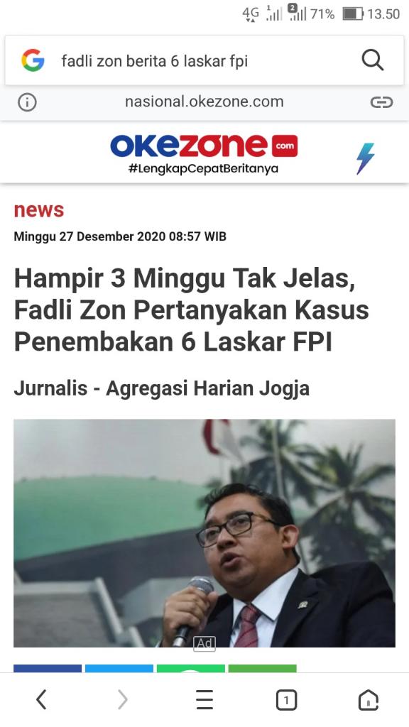 Komnas HAM Temukan 7Proyektil Peluru dan Empat Selongsong di TKP Penembakan LaskarFPI