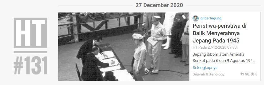 Peristiwa-peristiwa di Balik Menyerahnya Jepang Pada 1945