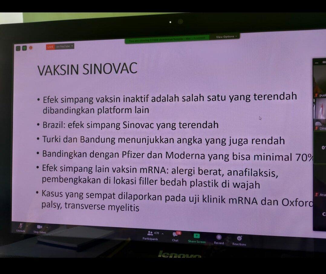 Efektivitas Vaksin Sinovac Ternyata Hanya 50,4 Persen, Diejek Presiden Brasil
