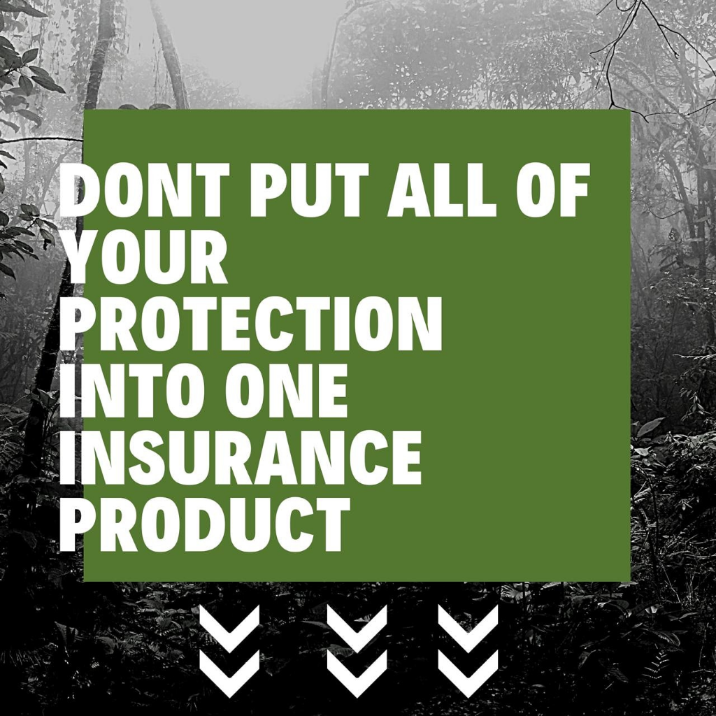 Don't put all of your protection into one insurance product