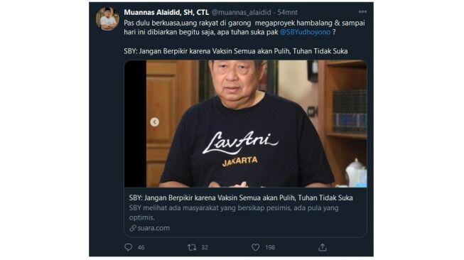 Singgung Proyek Hambalang, Muannas Alaidid Colek SBY: Apa Tuhan Suka, Pak?