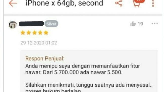 iPhone Dibeli Seharga 5.500, Penjual Ini Merasa Tertipu oleh Fitur 'Nawar'