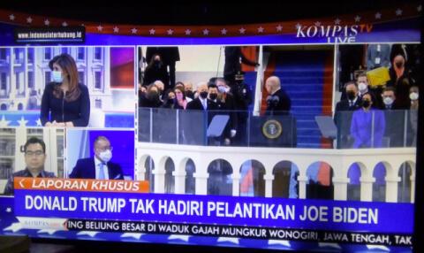"""Miris! Suasana Bencana, Media Kita Ini malah """"Ikut Rayain (?)"""" Hajatan Presiden AS!"""