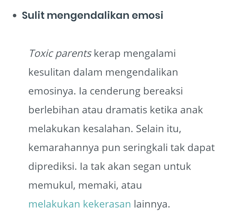 Sadarkah Bunda Perbuatan Berikut Merupakan Perundungan Bagi Anak?Toxic Parent!