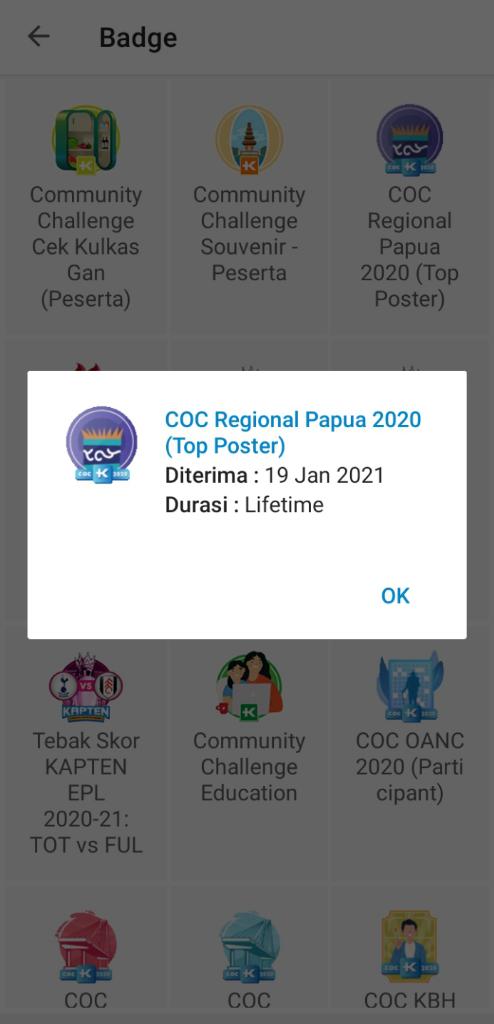Momen Dibalik Cerita Badge COC KBH Award 2020 Yang Bikin Gemes Dan Badge COC Papua