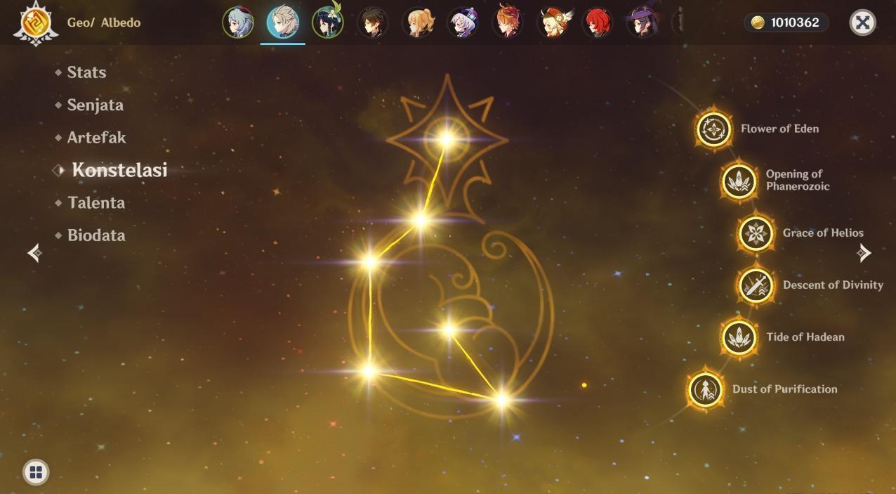 Butuh Ratusan Juta Buat Penuhin Constelation Karakter Genshin Impact