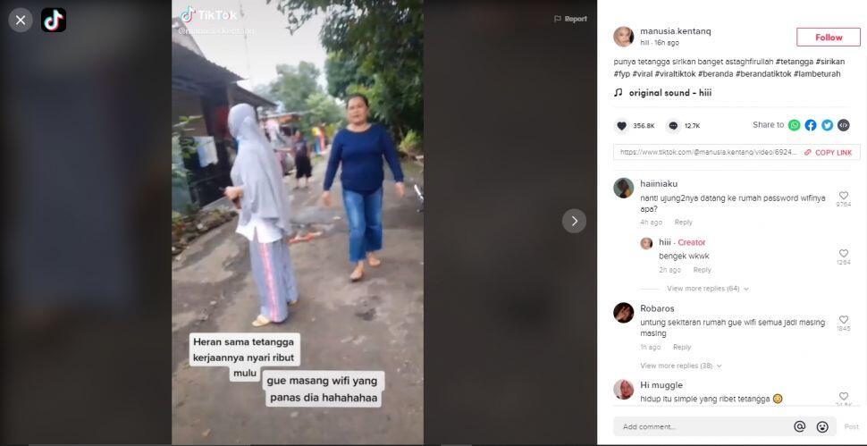 Viral Emak-emak Ribut Sama Tetangga: Gue Pasang Wifi, Dia yang Panas