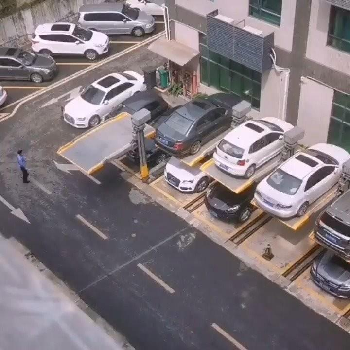 Canggih Dan Inovatif, Parkiran Di Gedung Ini Menggunakan Hidrolik