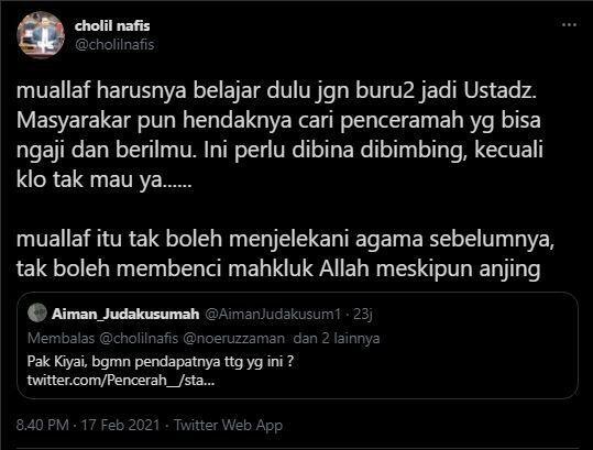 Telak! Nasihat Ketua MUI ke Ustaz Yahya Waloni: Mualaf Belajar Dulu...