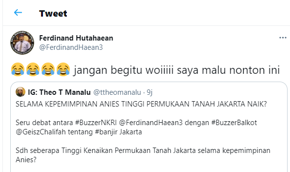 Geisz Chalifah Sebut 'Janji Anies Ditepati' dan 'Daratan Jakarta Naik', FH:Saya Malu!