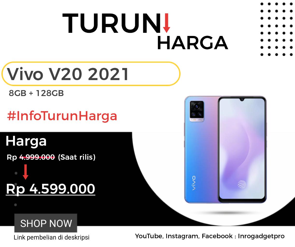 Vivo V20 2021 Turun Harga