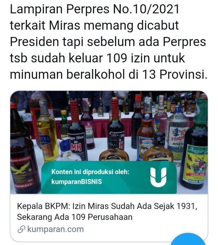 Perpres Investasi Miras Dicabut, Roy Suryo Tegas Menuntut Hal Ini ke Jokowi